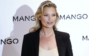 British Model Kate Moss Poses During The Launch Of The New Mango 2012 Collection In London