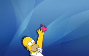 Homer Simpson HD Desktop