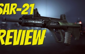 SAR 21 Rifle HD Background