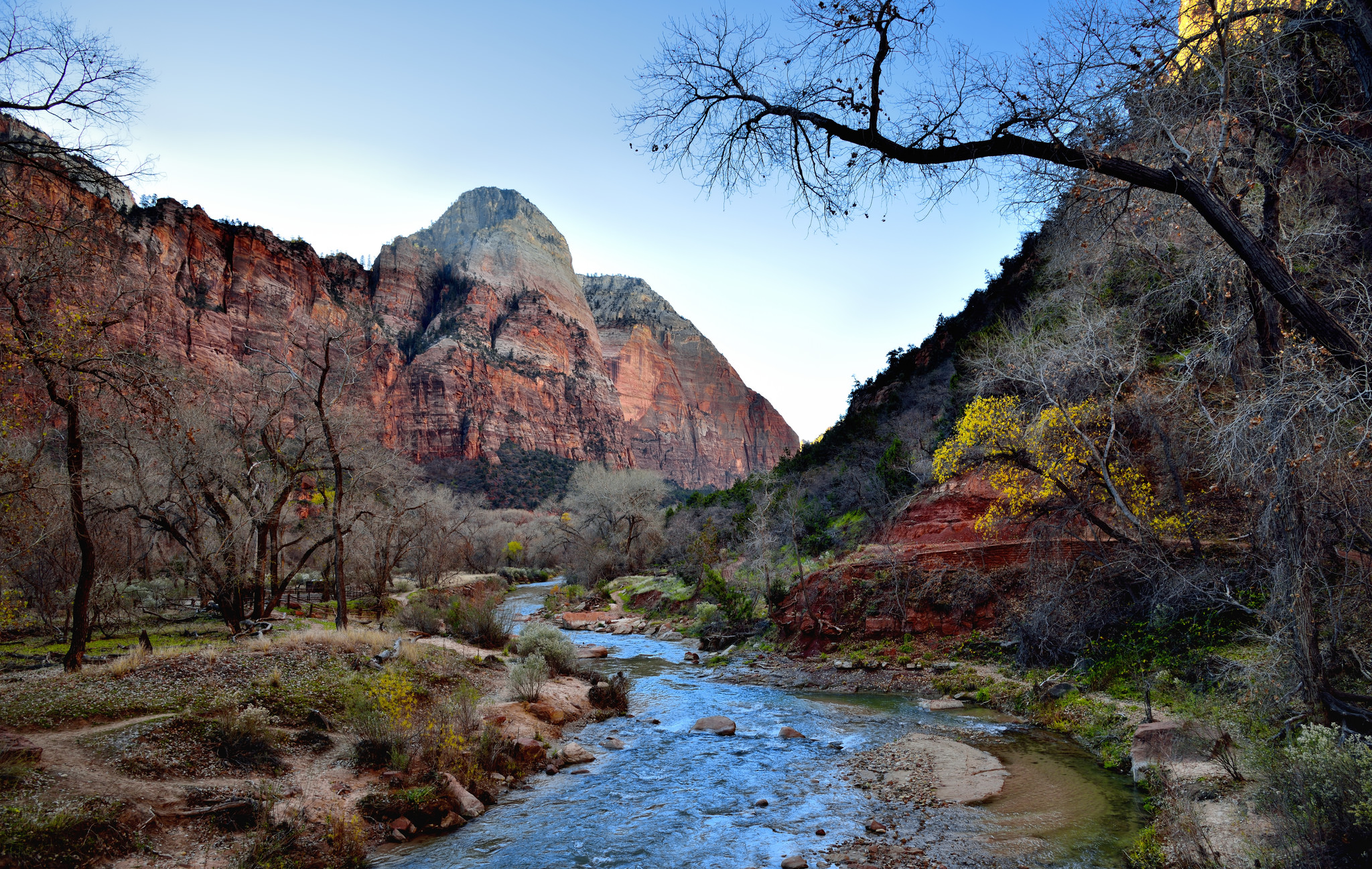 "zion national park If you go up one step from the grand canyon on the geological ""grand staircase"" of the western united states, you will reach zion national park."