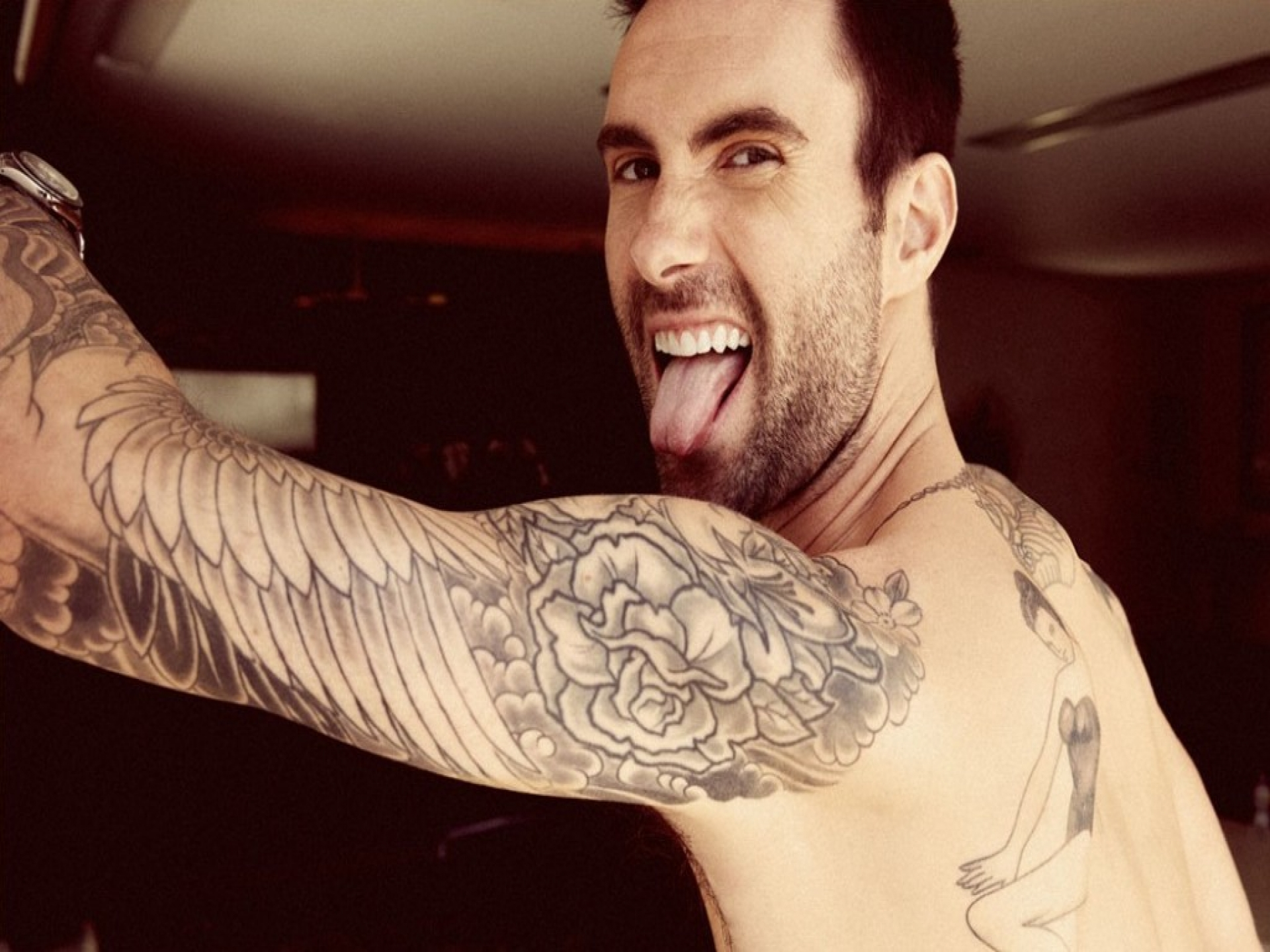 Adam Levine Stylish Stage Performance Latest Images collections
