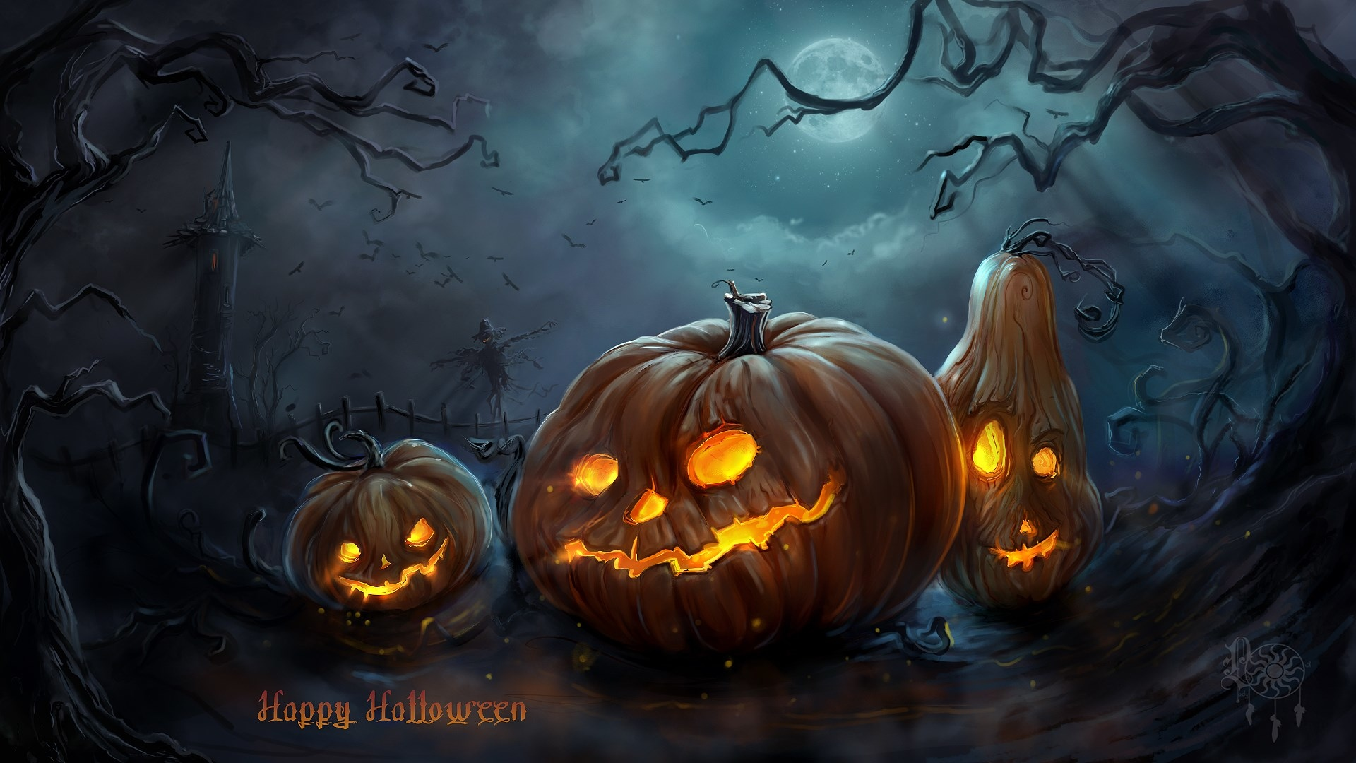 happy halloween hd wallpapers