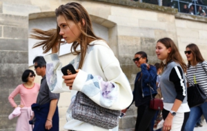 Caroline Brasch Nielsen Acne Studios Top Chanel Bag