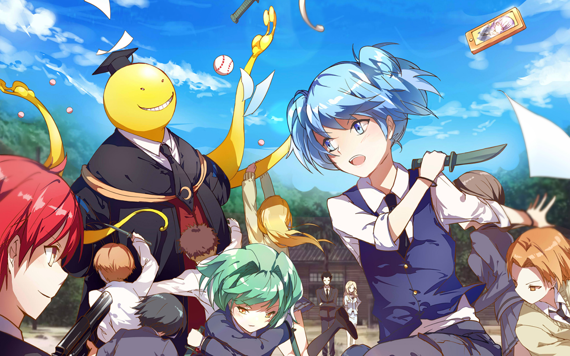 assassination classroom wallpapers backgrounds
