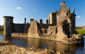 Caerlaverock Castle HD Background