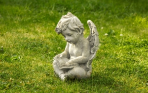 Cherub Statue HD Wallpaper