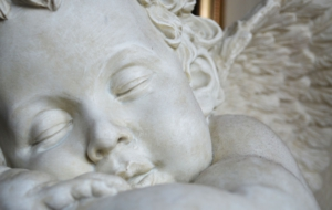 Cherub Statue Wallpaper