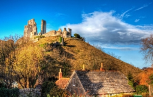 Corfe Castle Background