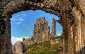 Corfe Castle Computer Wallpaper