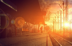 Train Station HD Background