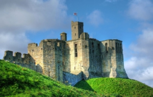 Warkworth Castle HD Background