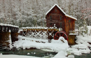 Watermill Background