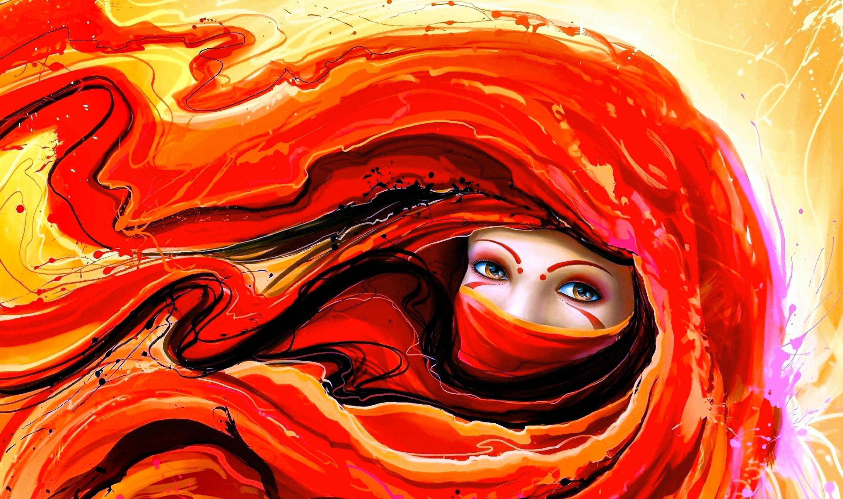 Abstract girls wallpapers backgrounds - Abstract anime girl ...
