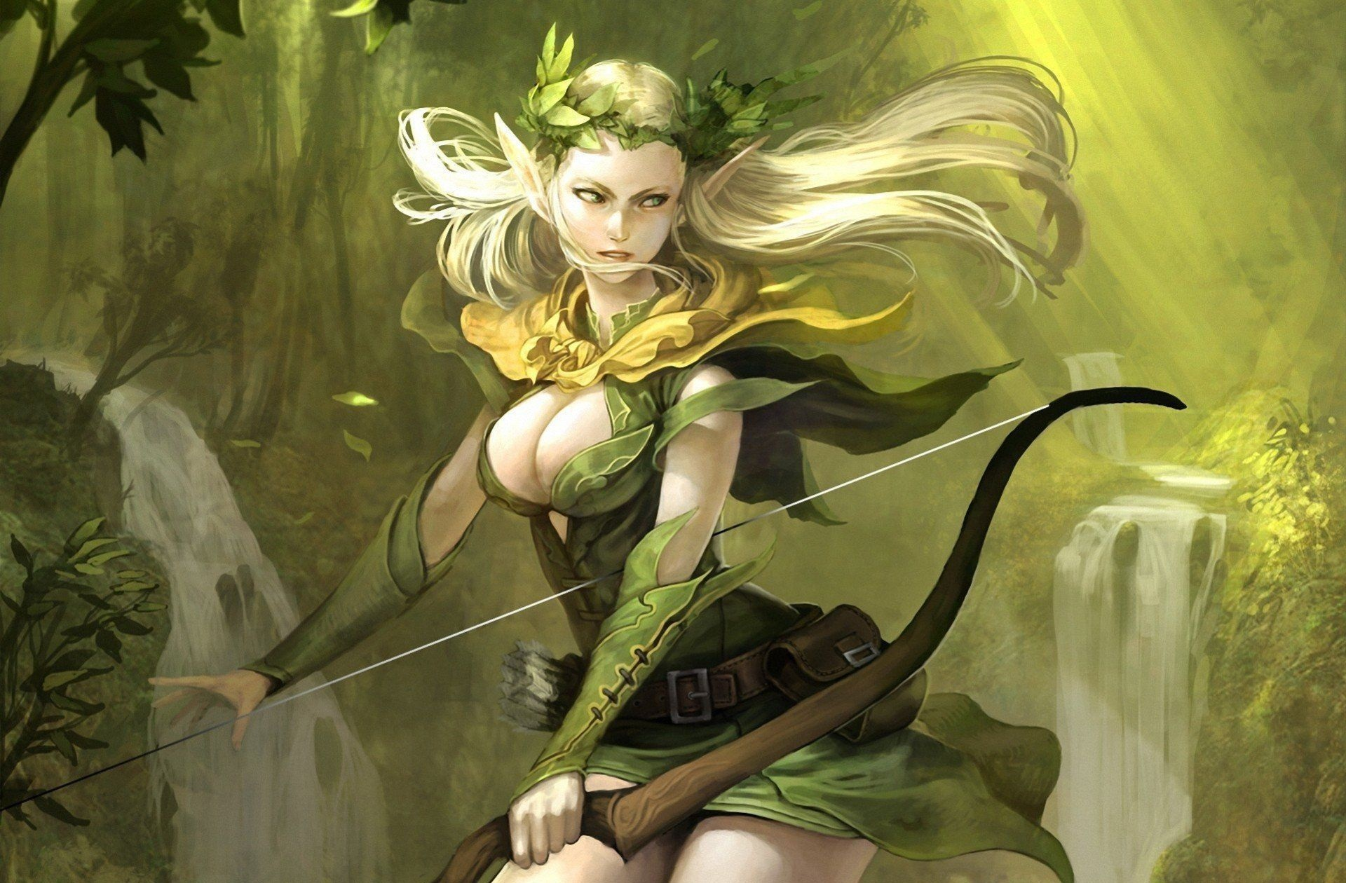 Archer Warrior Elves Fantasy Art Wallpapers Hd: Archer Wallpapers Backgrounds