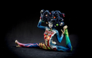 Girls Body Painting Computer Wallpaper