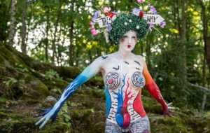 Girls Body Painting Images