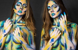 Girls Body Painting For Desktop