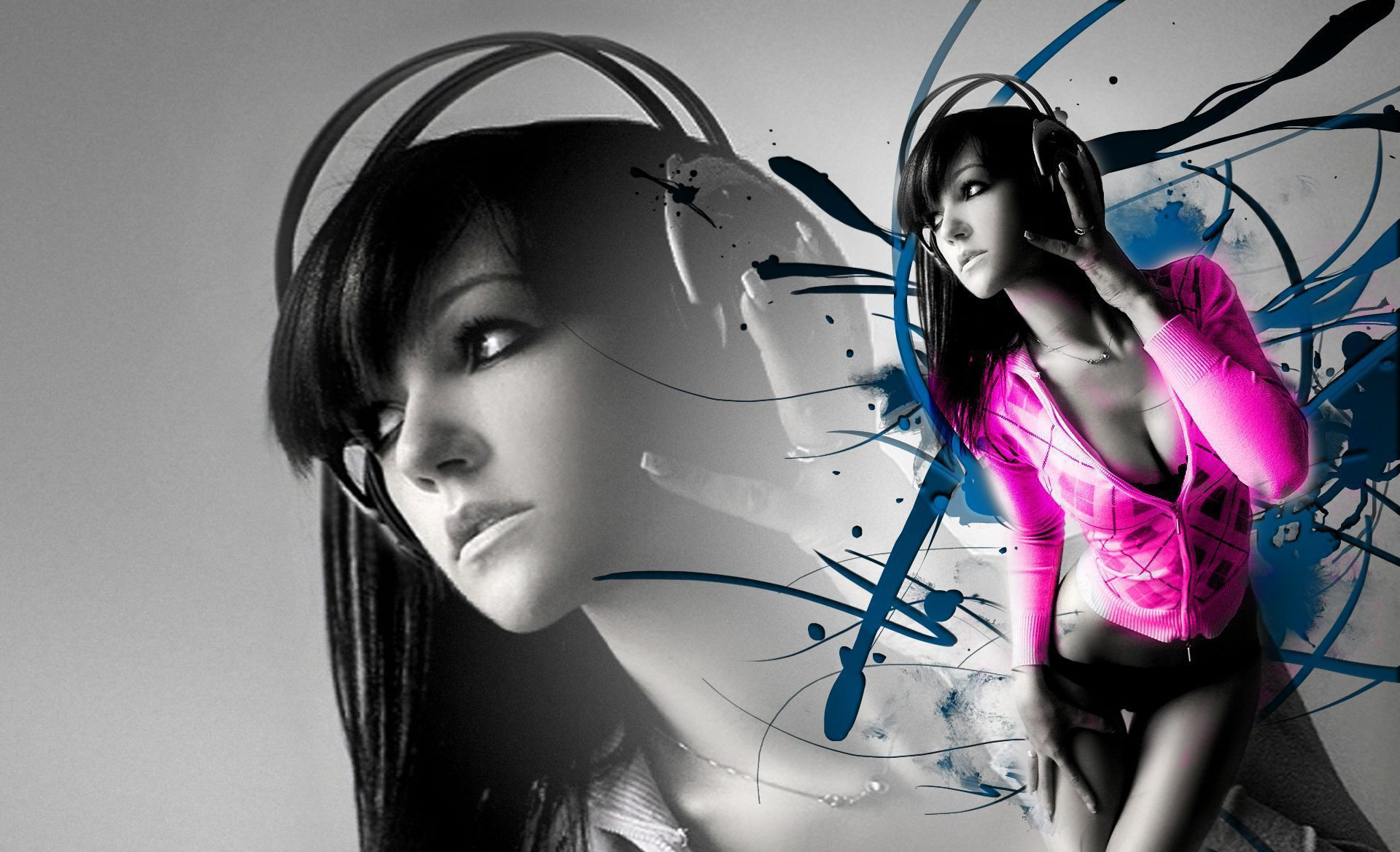 Abstract girls wallpapers backgrounds - Ladies wallpaper ...