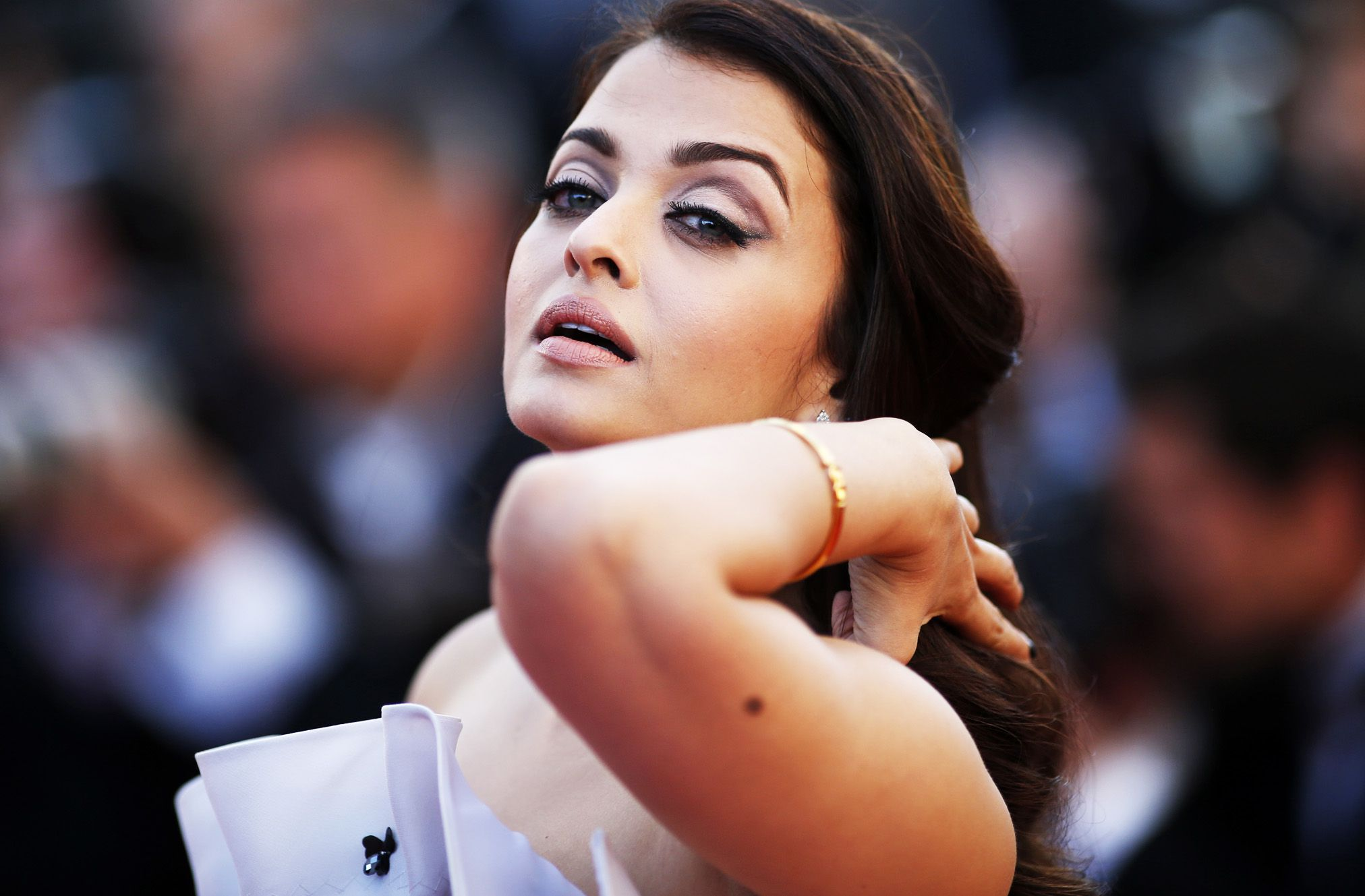 "Actress Aishwarya Rai Bachchan Poses On The Red Carpet As She Arrives For The Screening Of The Film ""Youth"" In Competition At The 68th Cannes Film Festival In Cannes"