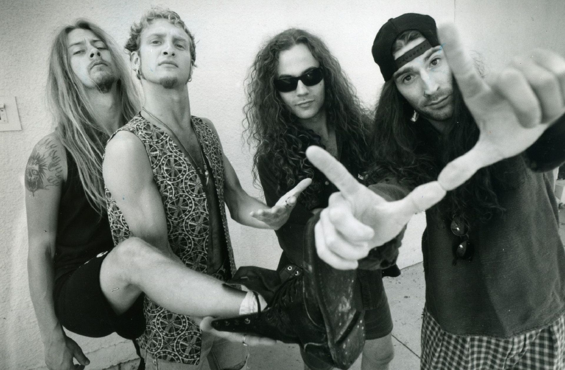 Rock Group Alice In Chains Left To Right Jerry Cantrell, Guitar; Layne Staley, Vocals, Michael Star