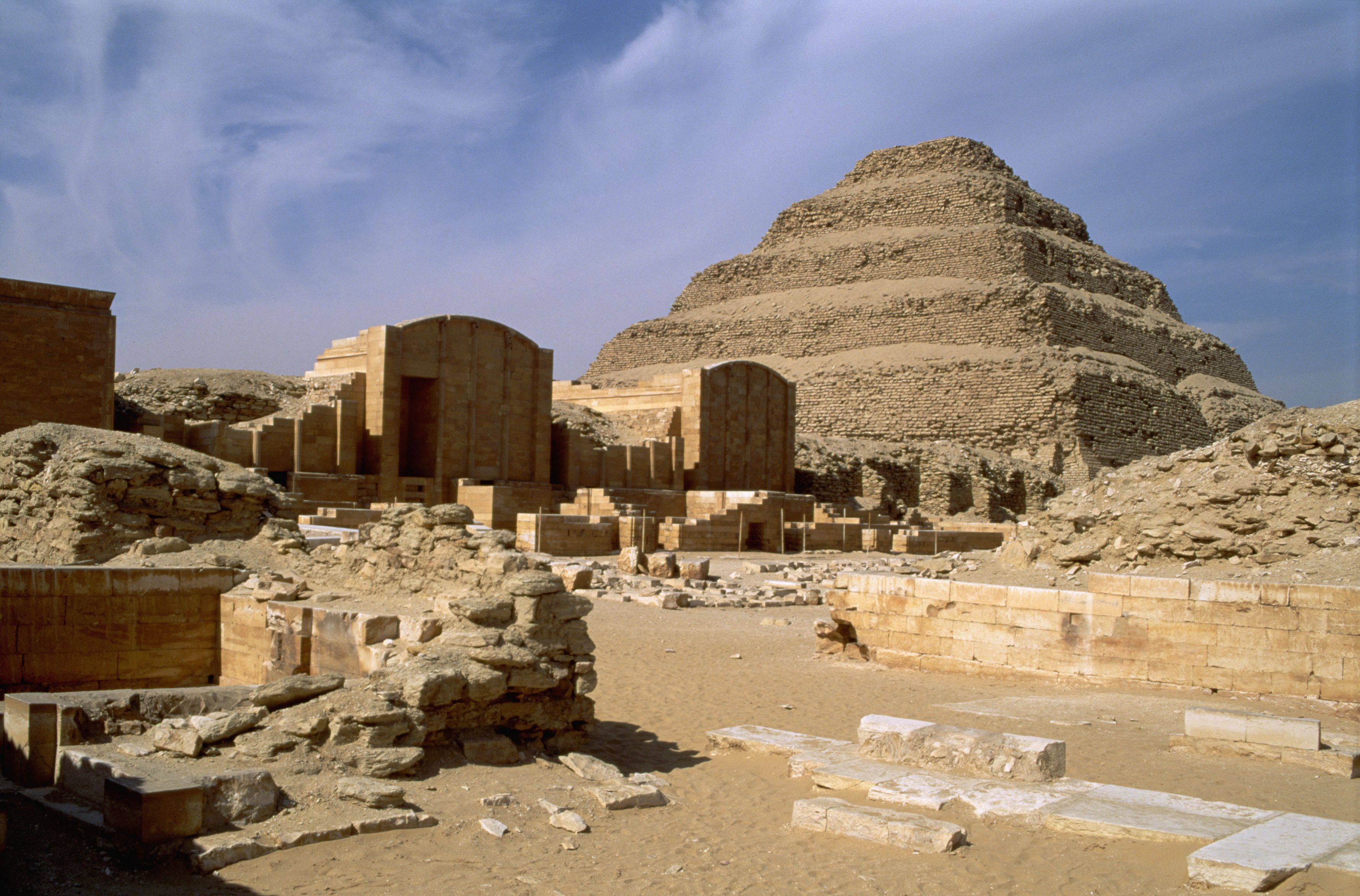 Ruined Pyramid Complex Of Zozer, Sakkara