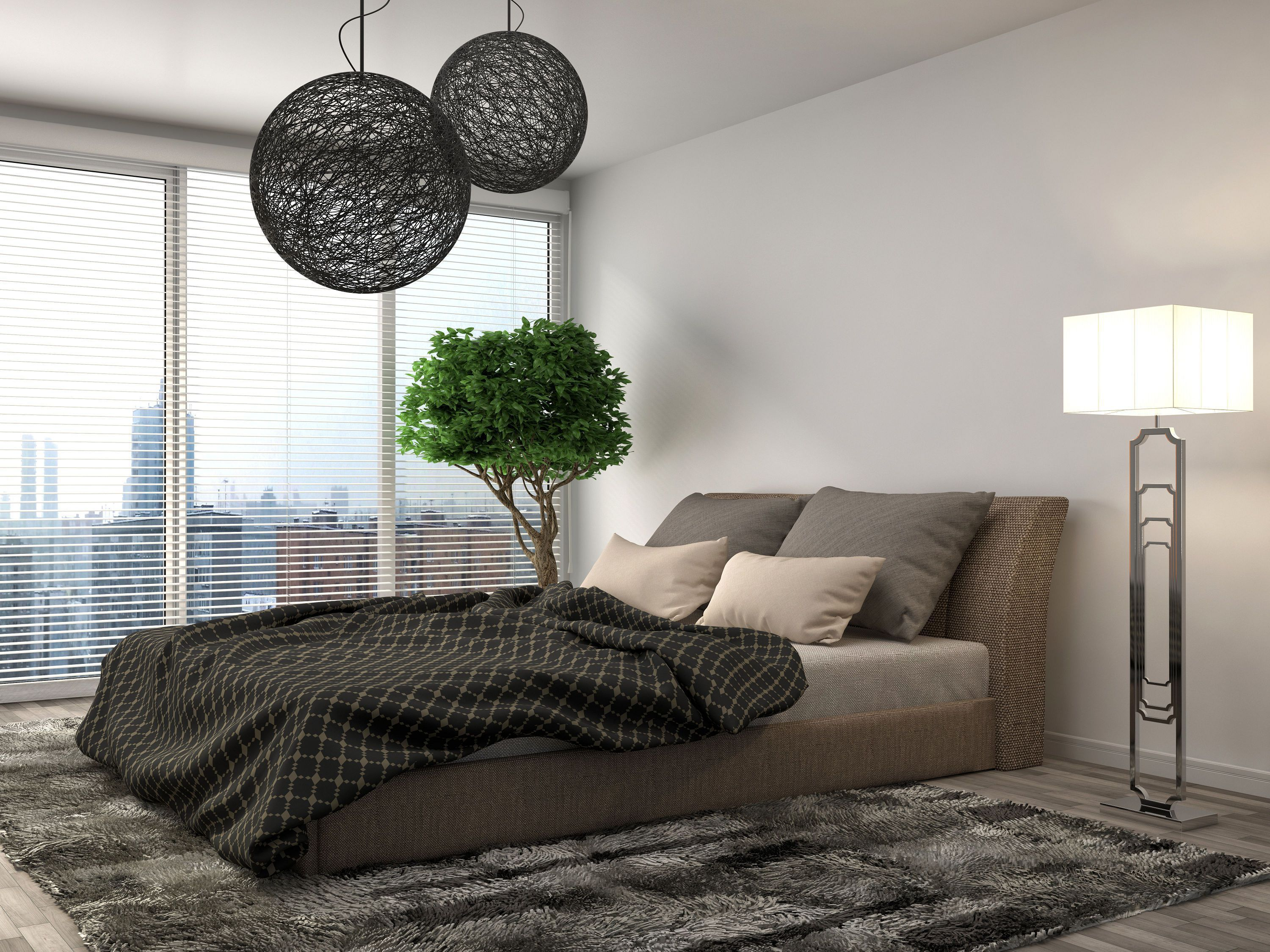 Bedroom Interior 3d Illustration