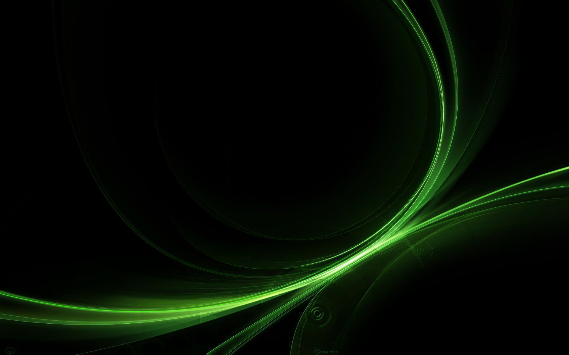 Black And Green In High Resolution