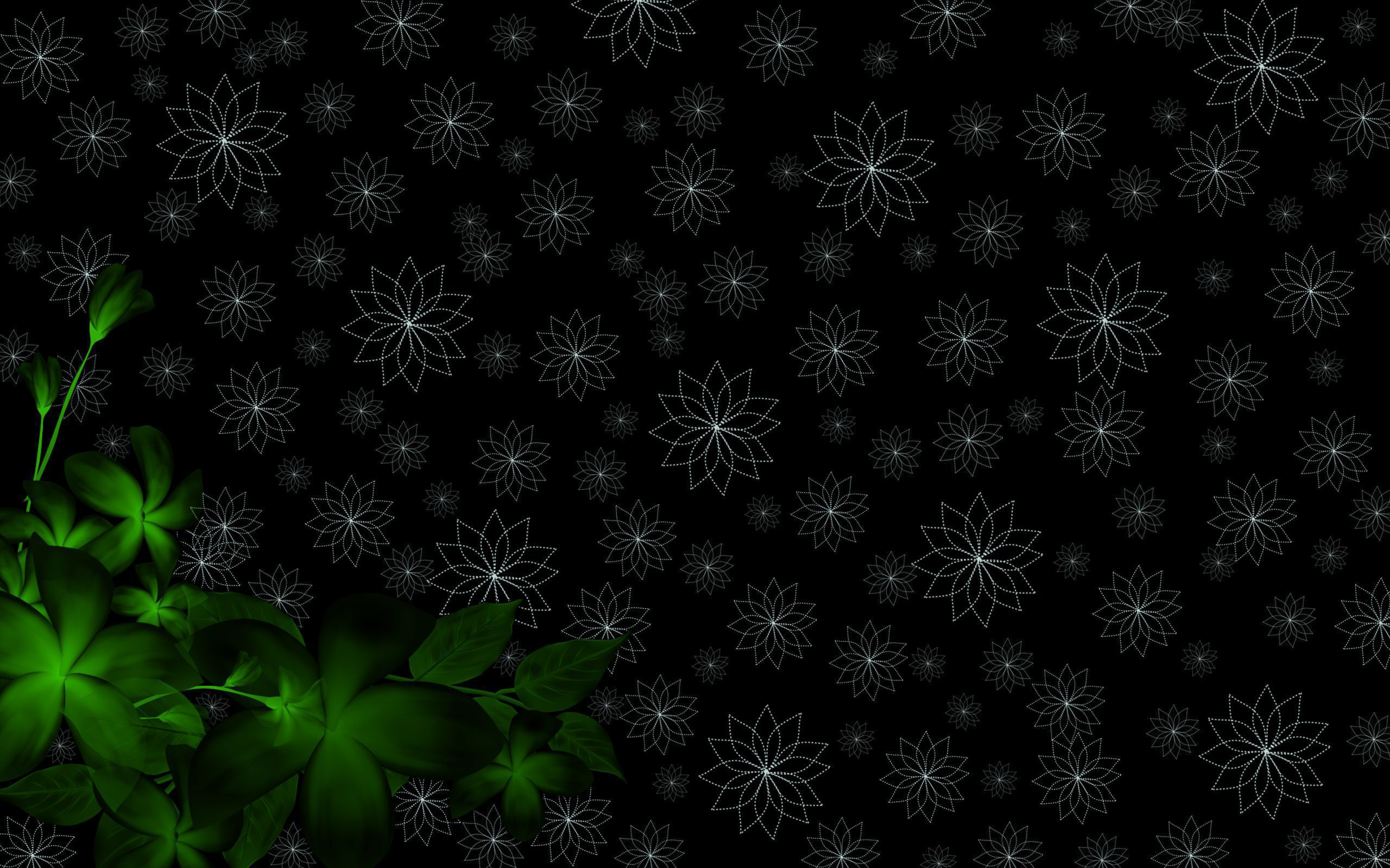Black And Green Wallpaper Pack