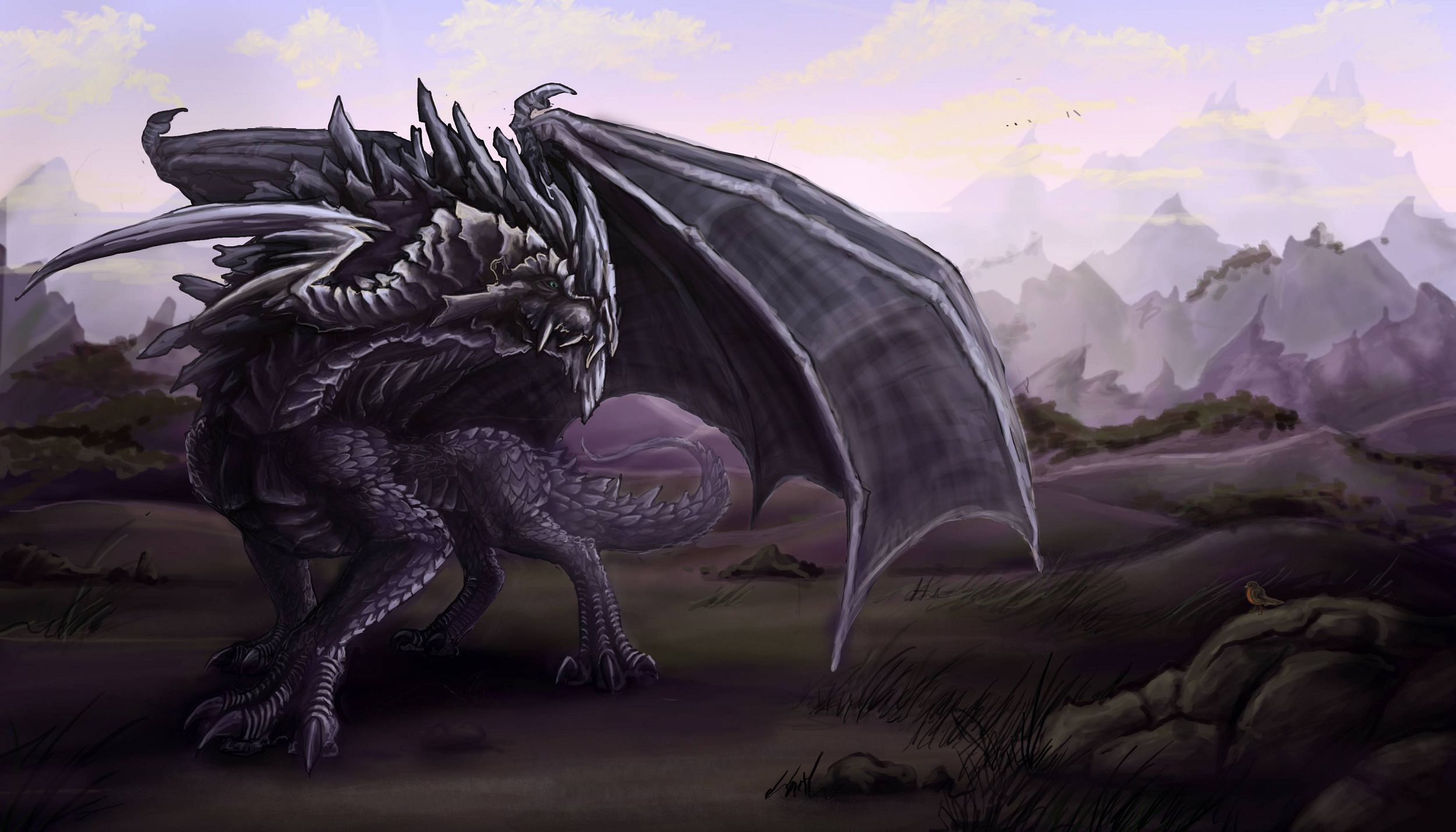 Black Dragon Background