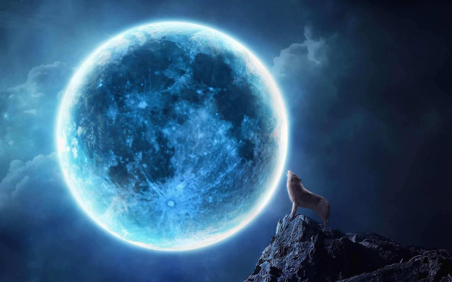 Blue Moon HD Background