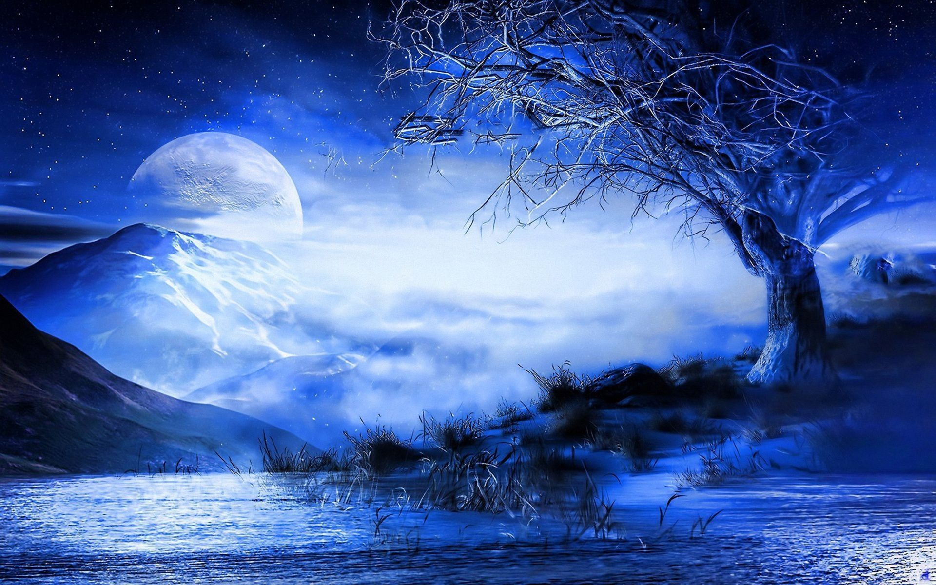 Blue Moon HD Desktop