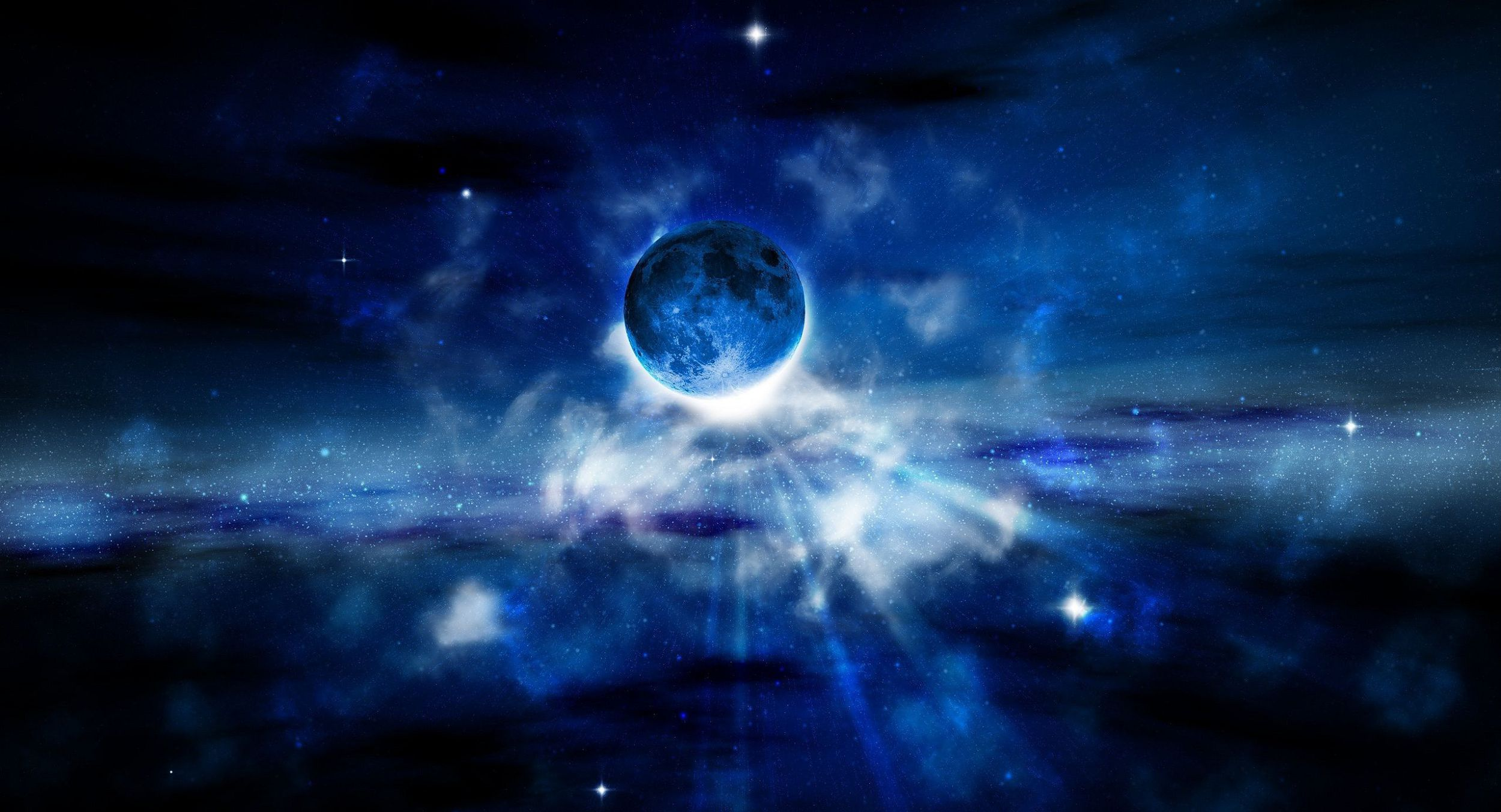 Blue Moon HD Wallpaper