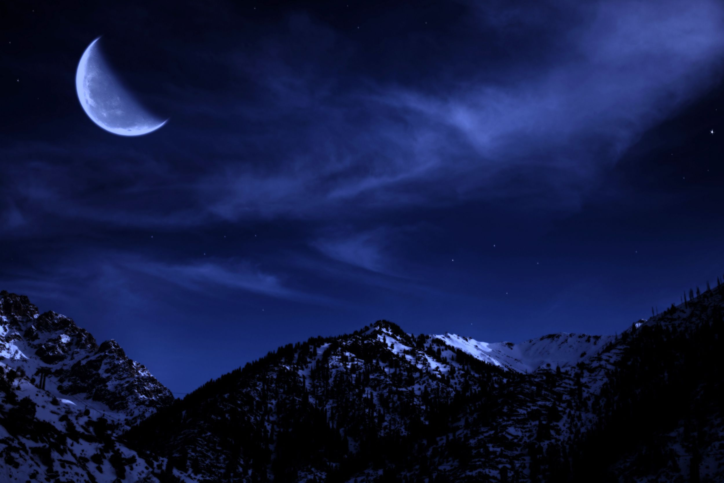 Blue Moon Wallpaper Pack