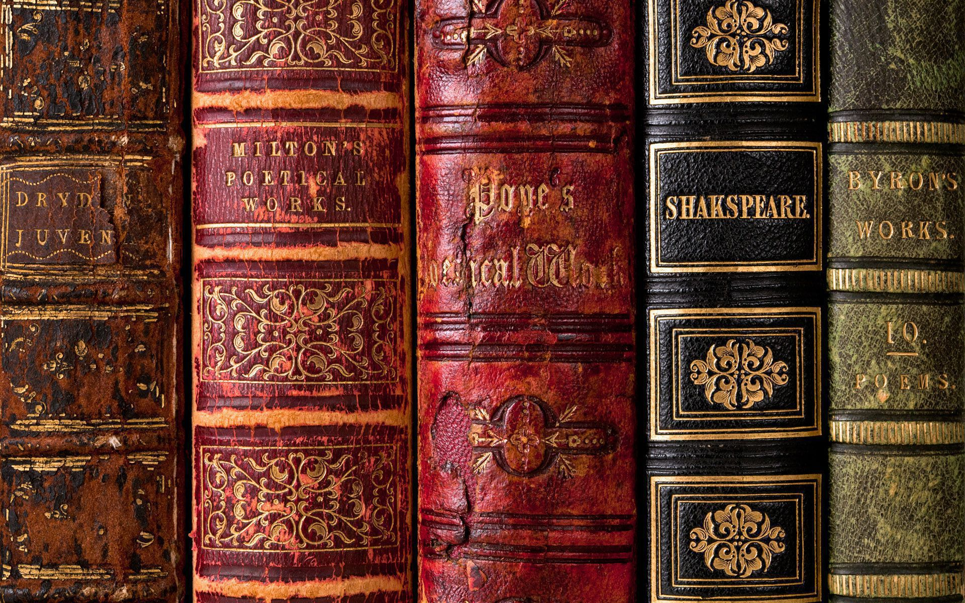 Leather Bindings Of English Poetical Works