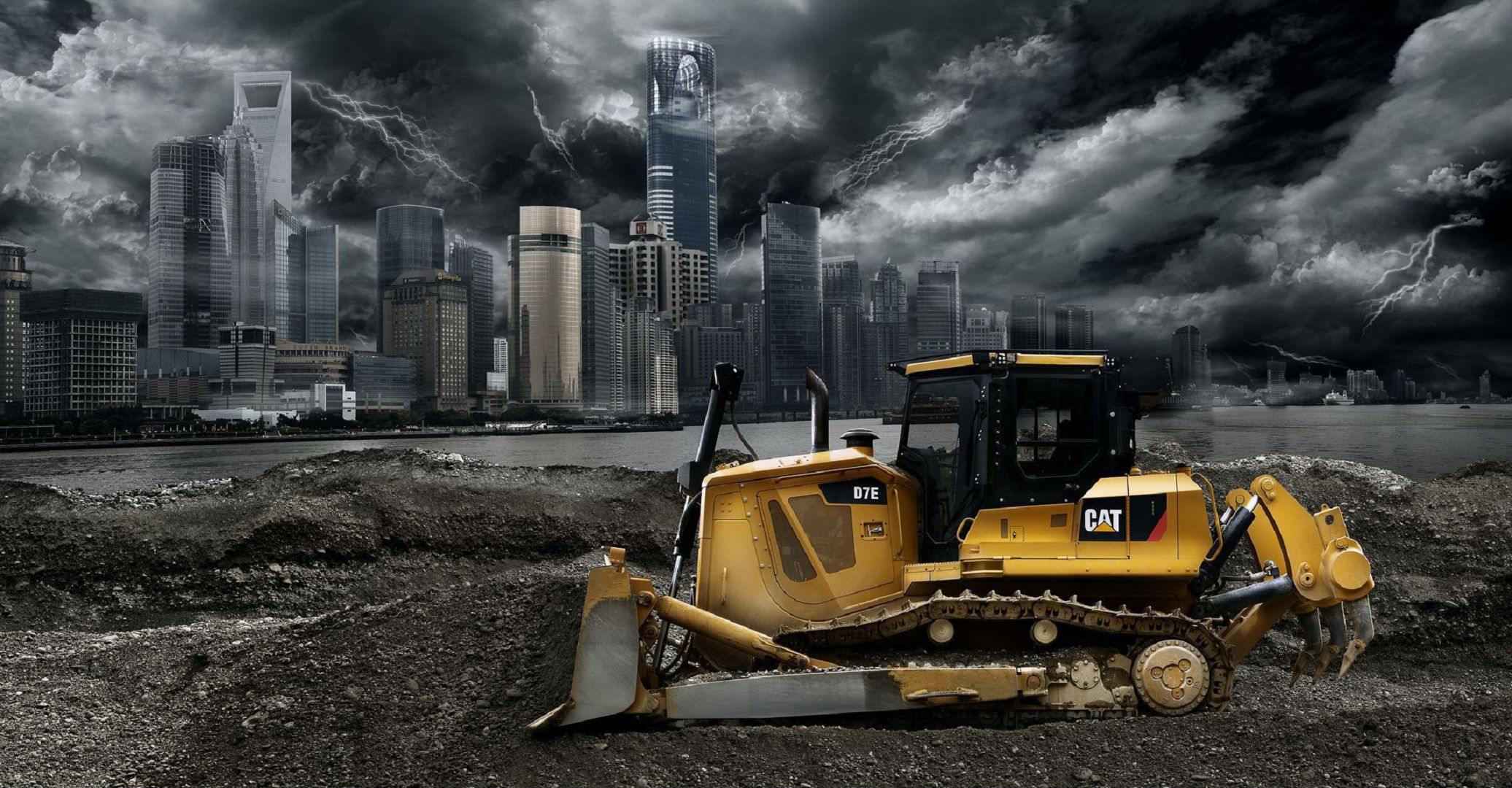 Bulldozer Wallpaper Pack