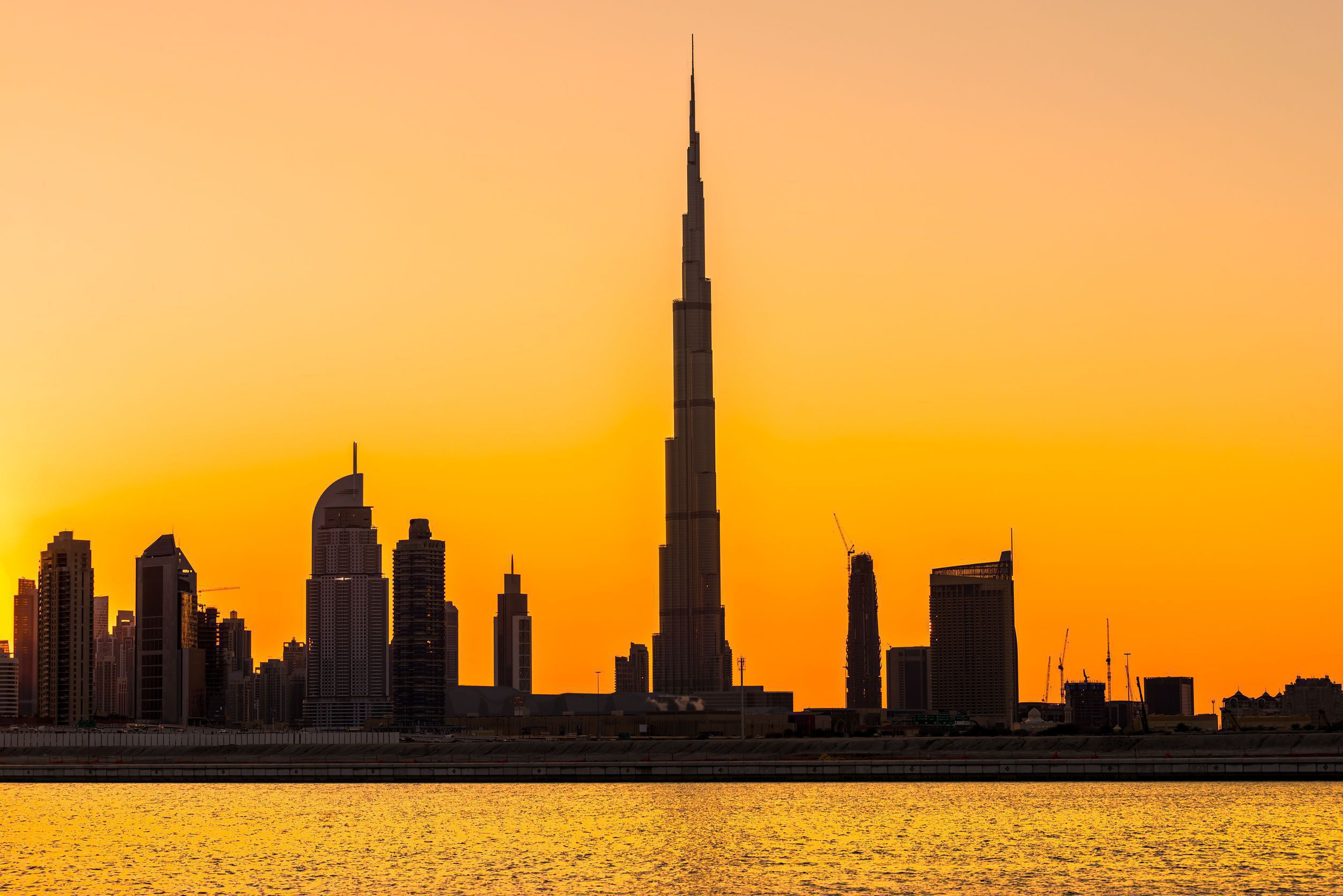 26156544 Dubai Skyline At Dusk, Uae