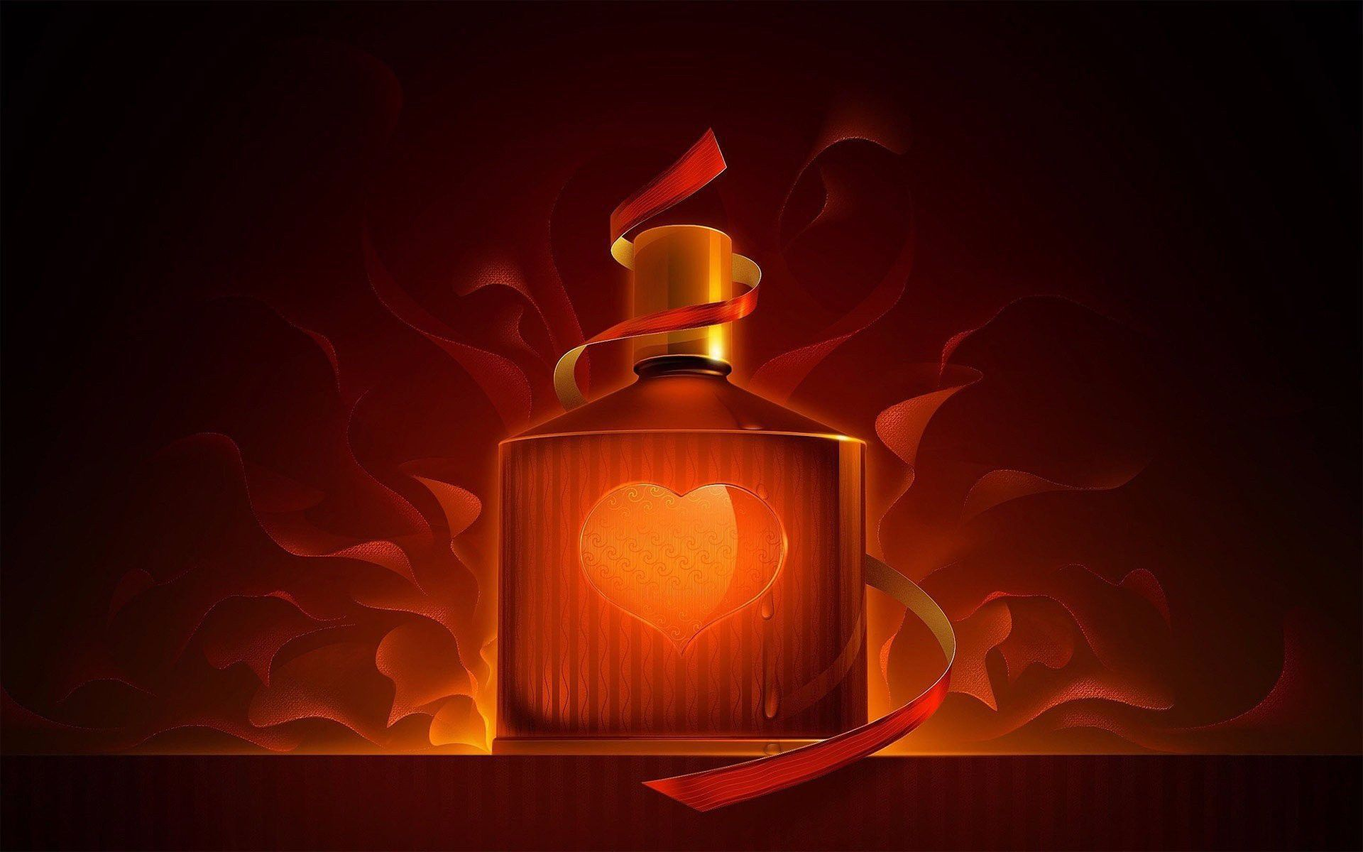 Burning Heart Wallpaper