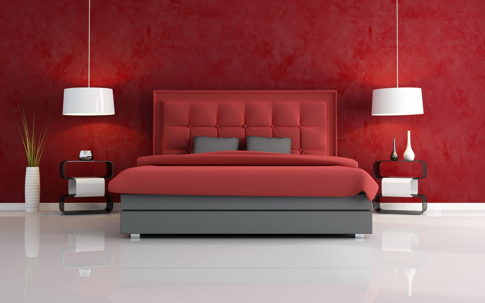 Luxury Red Bedroom