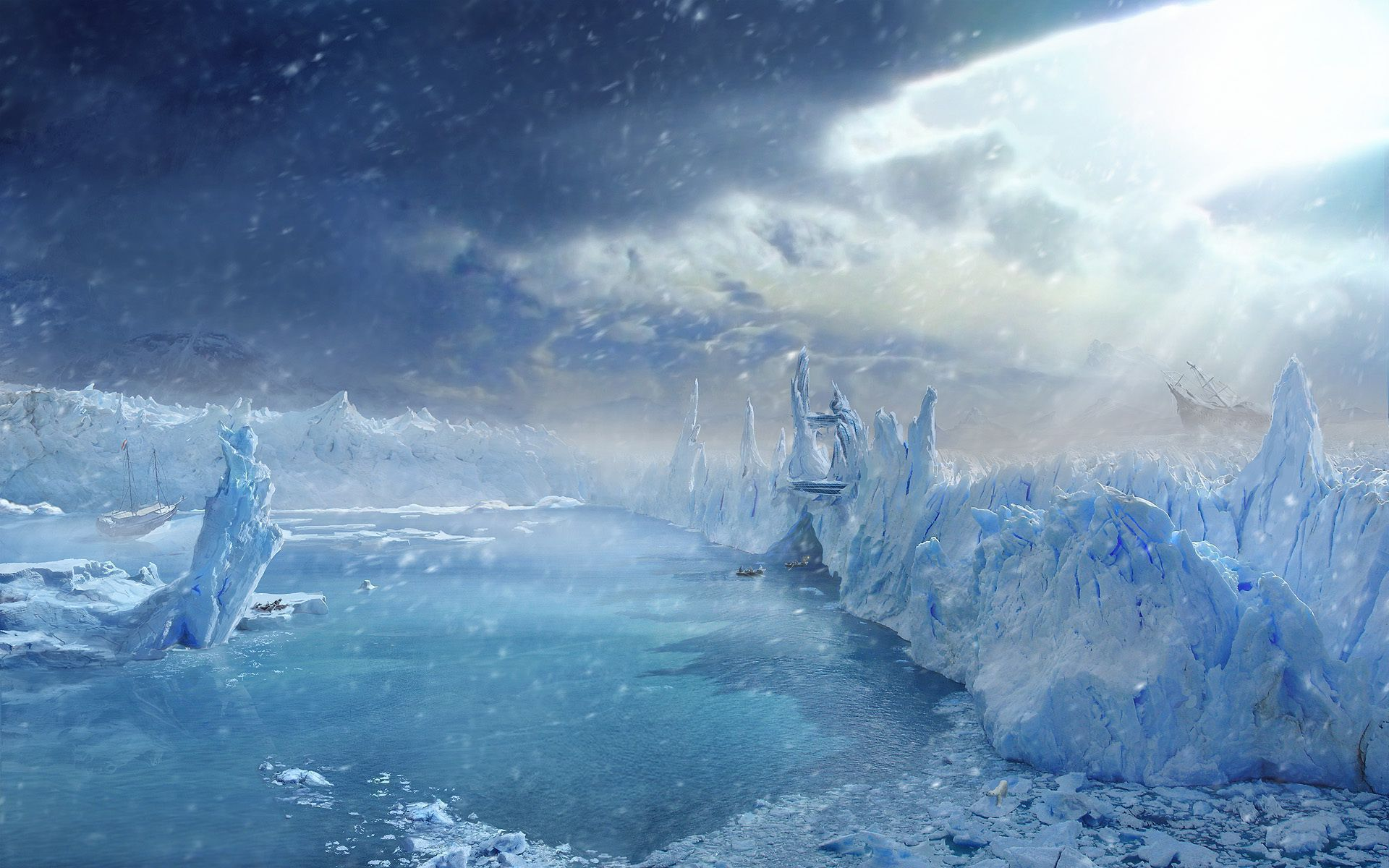Arctic Ice Widescreen