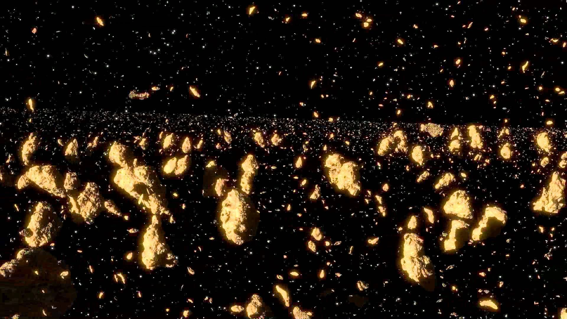 Asteroid Belt Background