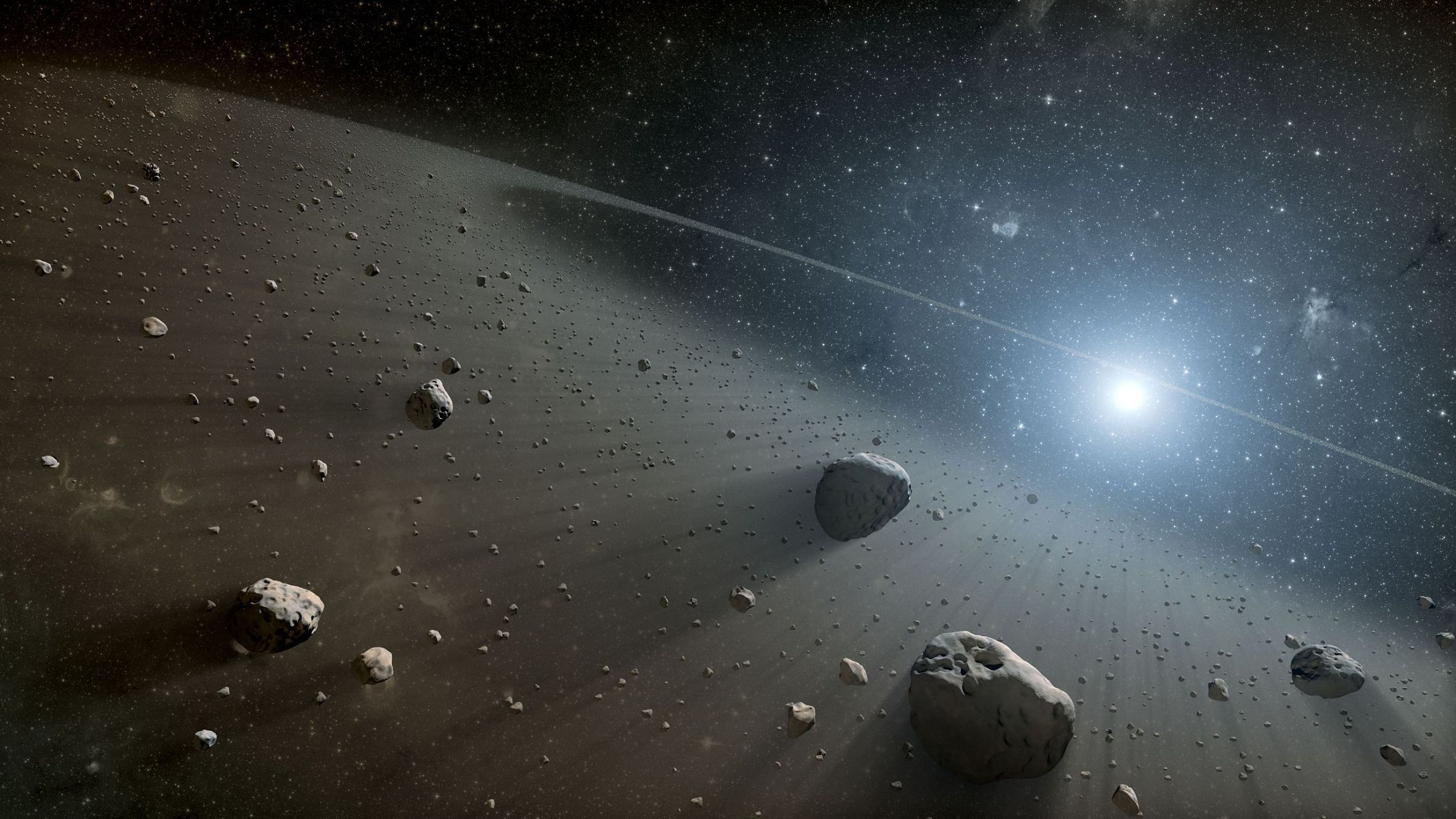 Asteroid Belt Beautiful