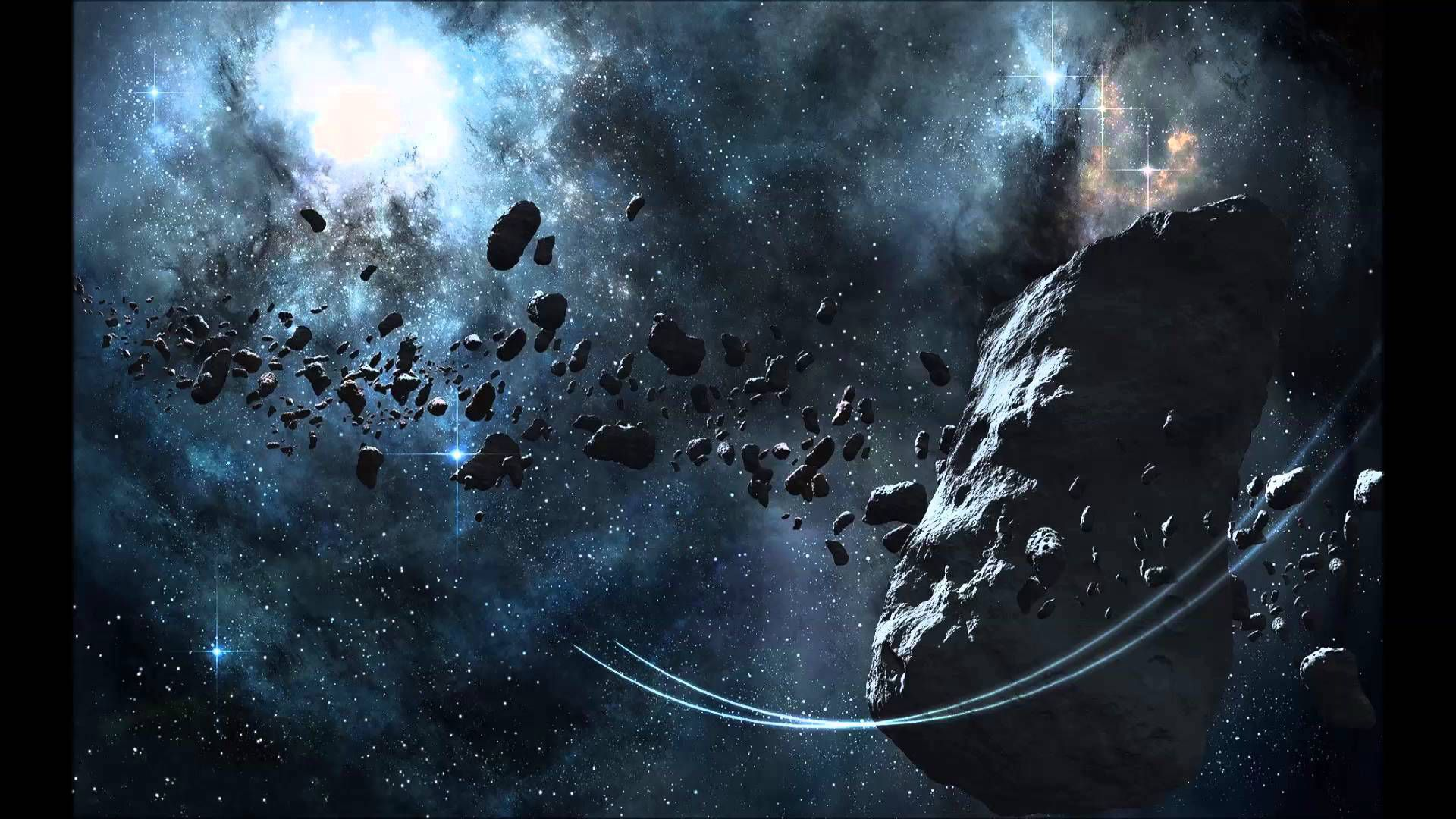 Asteroid Belt HD Wallpaper