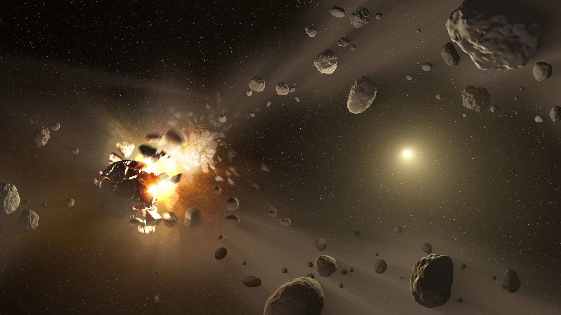 Asteroid Belt Widescreen