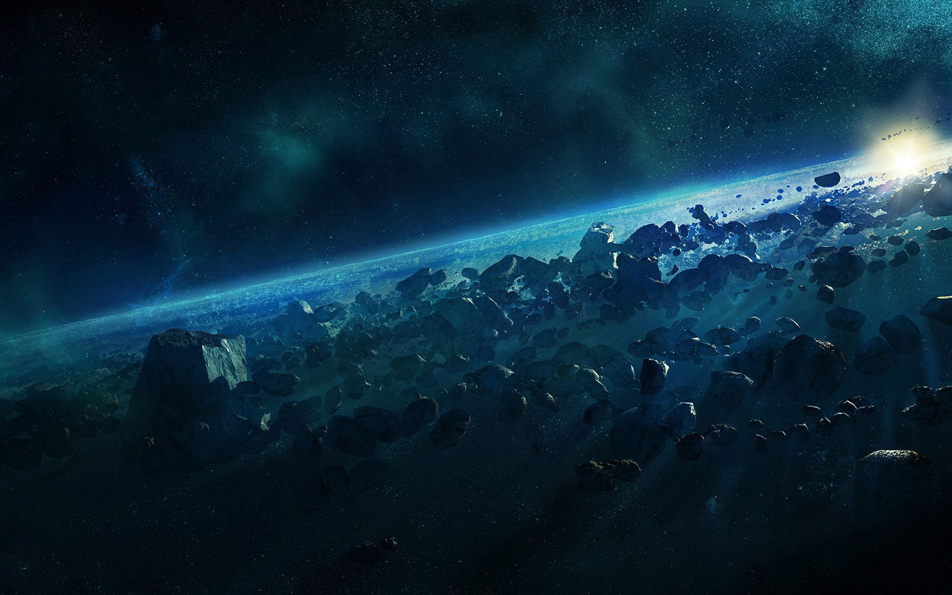 Asteroid Belt Wallpaper Pack