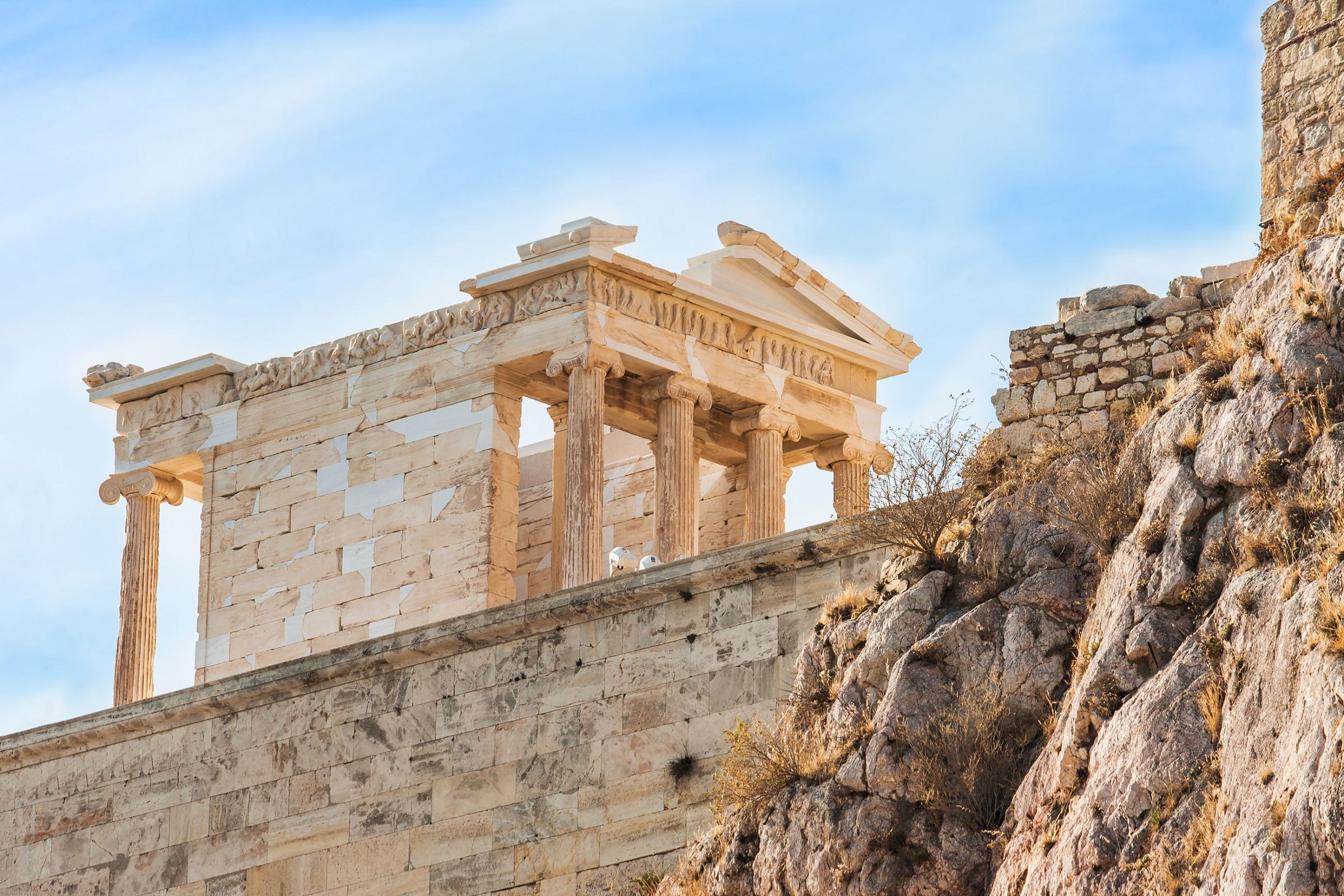 The Temple Of Nike In Acropolis, Greece
