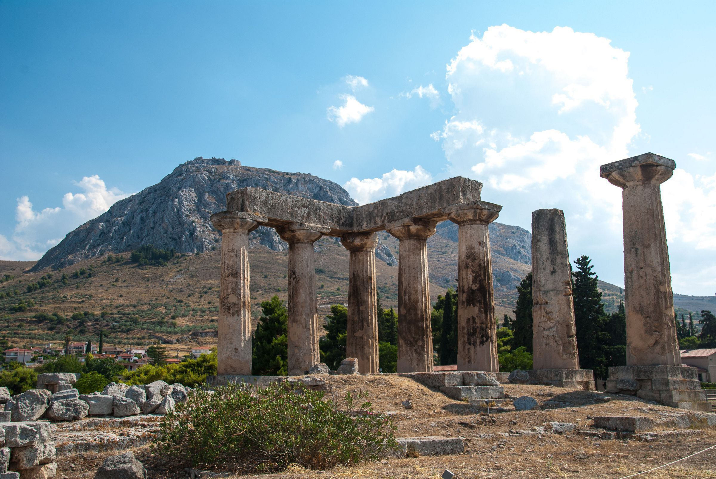 Ruins Of Ancient Corinth, Greece